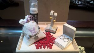 Sterling Silver Hoop Earrings $25, Lavish Jewelry Cleaner - 2 bottles for $25, Angelica Bracelet $25.